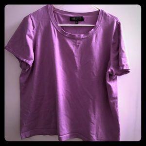 Purple Scoop Neck Shirt